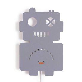 Roommate Roommate wandlamp robot grijs