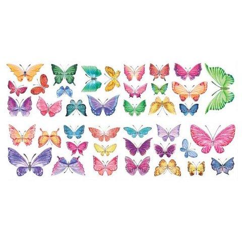 Decowall muursticker kinderkamer vlinders watercolour butterflies