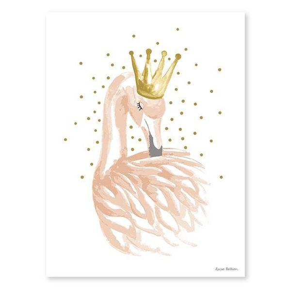 Lilipinso Lilipinso poster flamingo met kroon