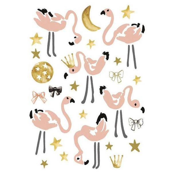 Lilipinso Lilipinso muursticker kinderkamer flamingo's