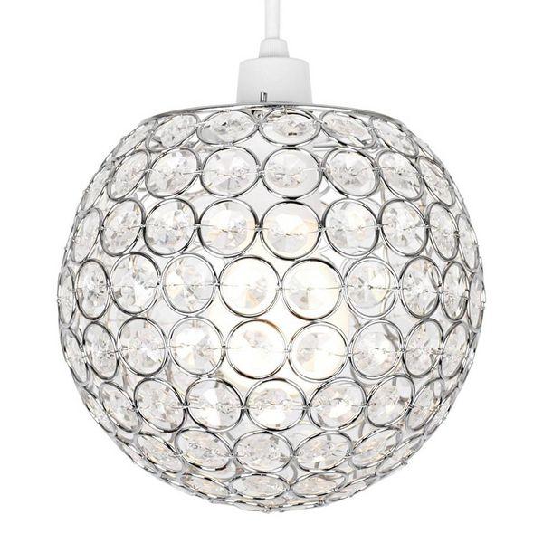Hanglamp kinderkamer rond met transparante kralen