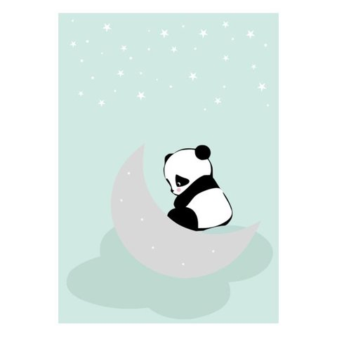 Kinderposter A3 Dreaming Panda