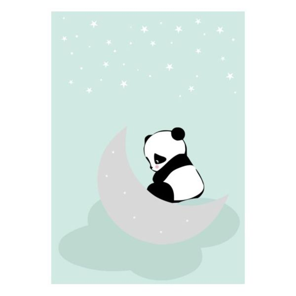 Land of Kids Land of Kids kinderposter A3 Dreaming Panda