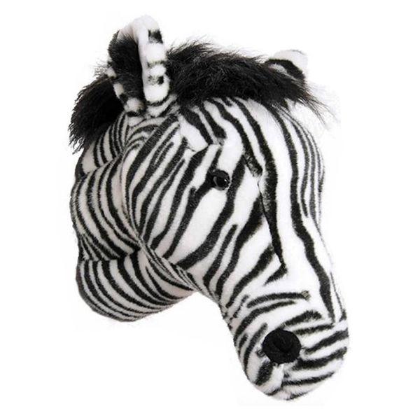 Wild & Soft Wild & Soft dierenkop zebra