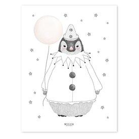Lilipinso Lilipinso poster pinguïn met ballon