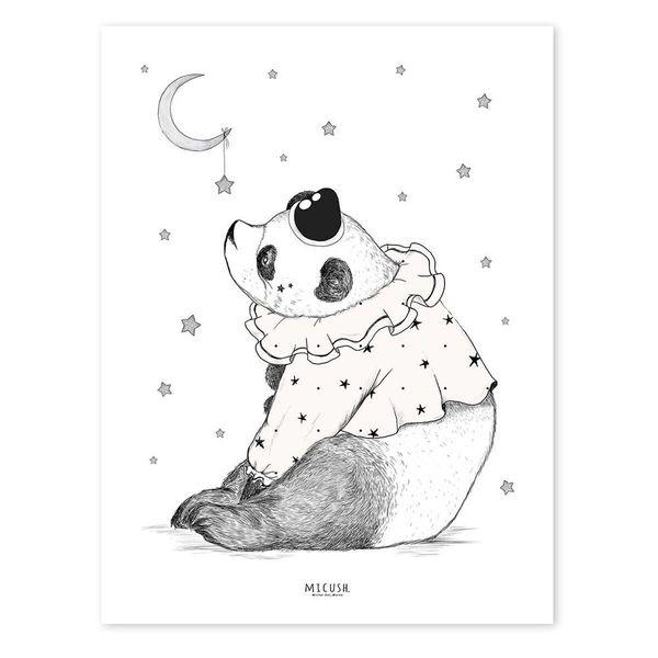 Lilipinso Lilipinso kinderposter panda circus