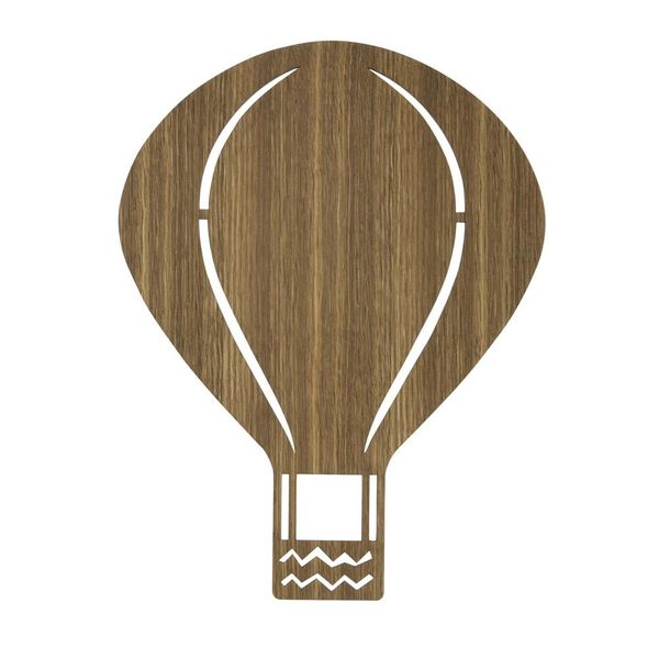Ferm Living Kids Ferm Living wandlamp kinderkamer ballon smoked oak