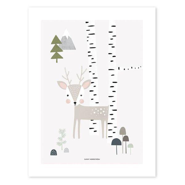 Lilipinso Lilipinso kinderposter woodland hertje