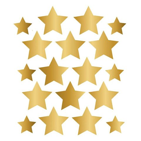 Nouvelles Images muursticker sterren goud
