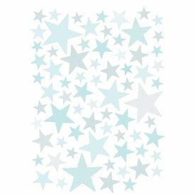 Lilipinso Lilipinso muursticker sterren licht turquoise