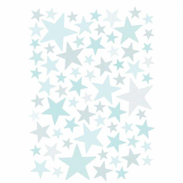 Lilipinso Lilipinso muursticker kinderkamer sterren licht turquoise