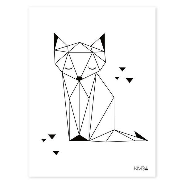 Lilipinso Lilipinso kinderposter vos origami