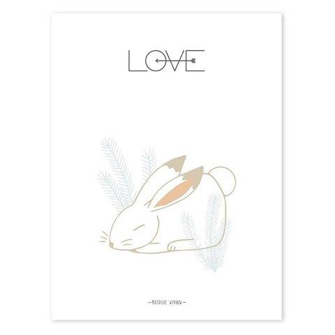 Lilipinso poster konijn LOVE