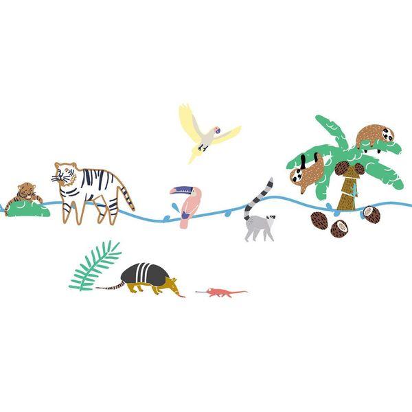 Mimi'lou Mimilou muursticker kinderkamer jungle Wild