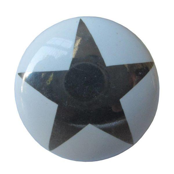 La Finesse La Finesse kastknopje wit met zilveren ster