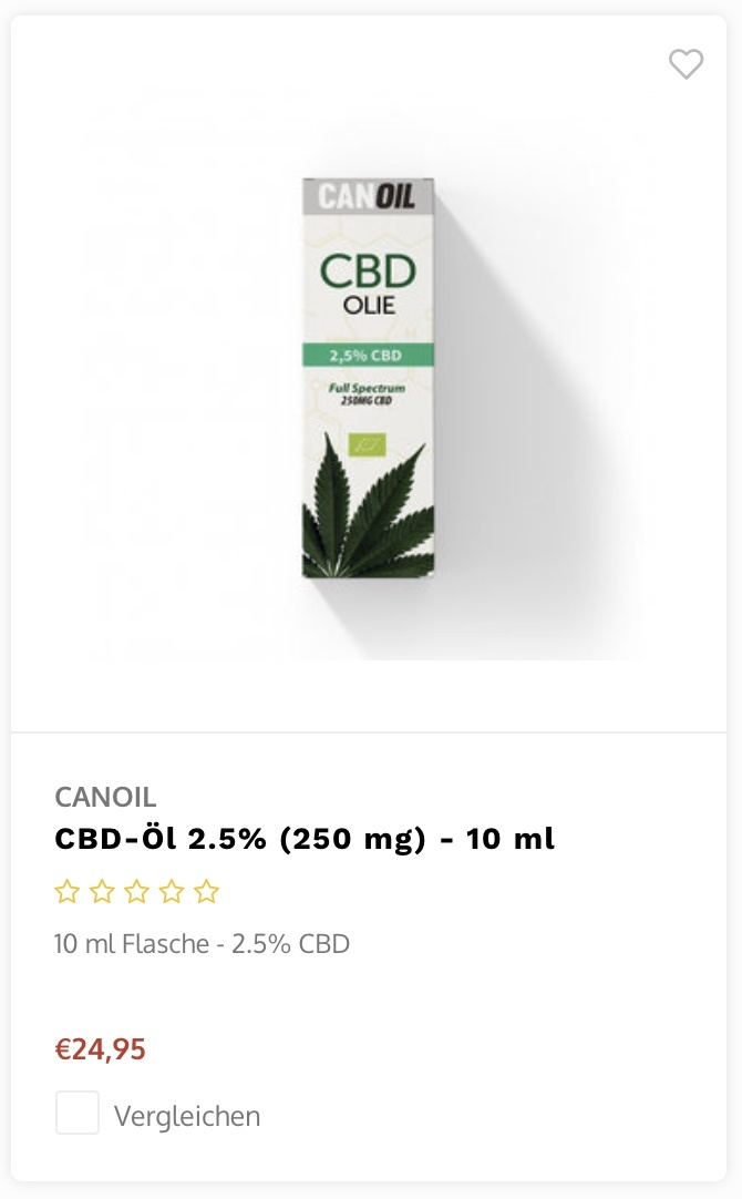 Canoil CBD 5 procent 10ml