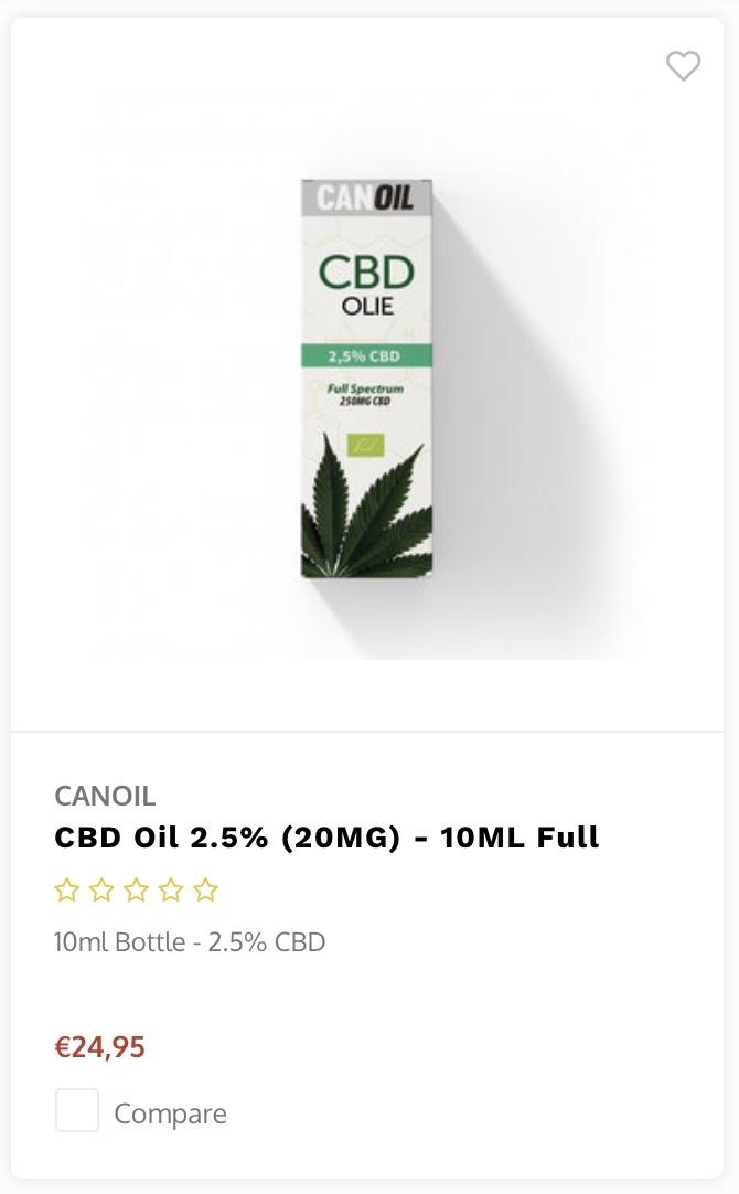 Canoil CBD 5 procent 10ml