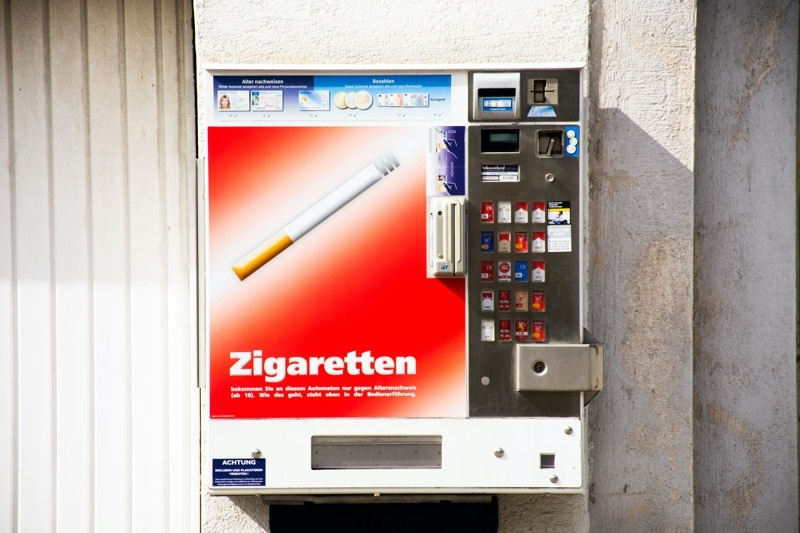 Sigarettenautomaat verdwijnt in 2023