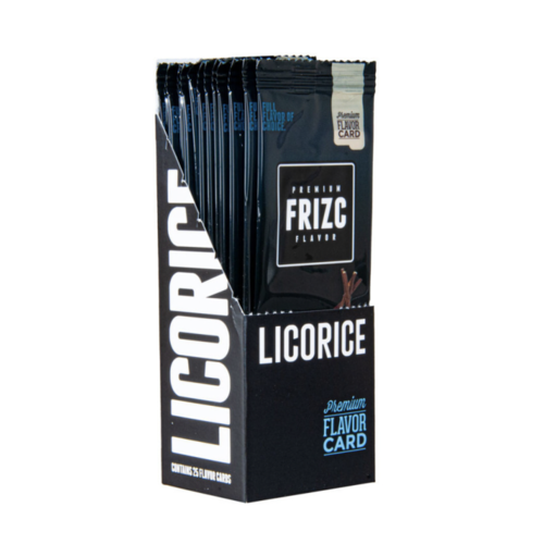 Novus Fumus Frizc Flavor Card Flavor Card Licorice - 25 pieces