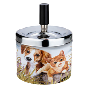 Novus Fumus Spin Ashtray - Dogs and Cats
