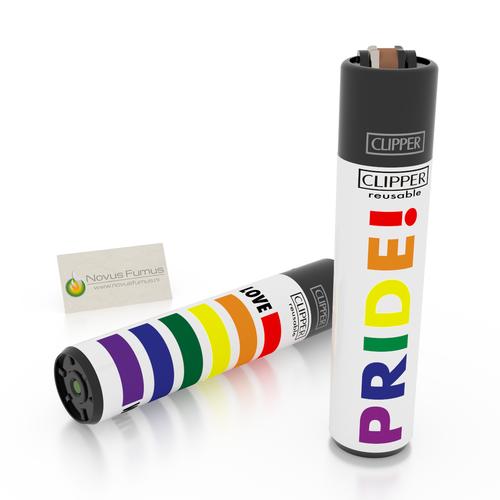 Clipper 4 Clipper Rainbow lighters - Pride