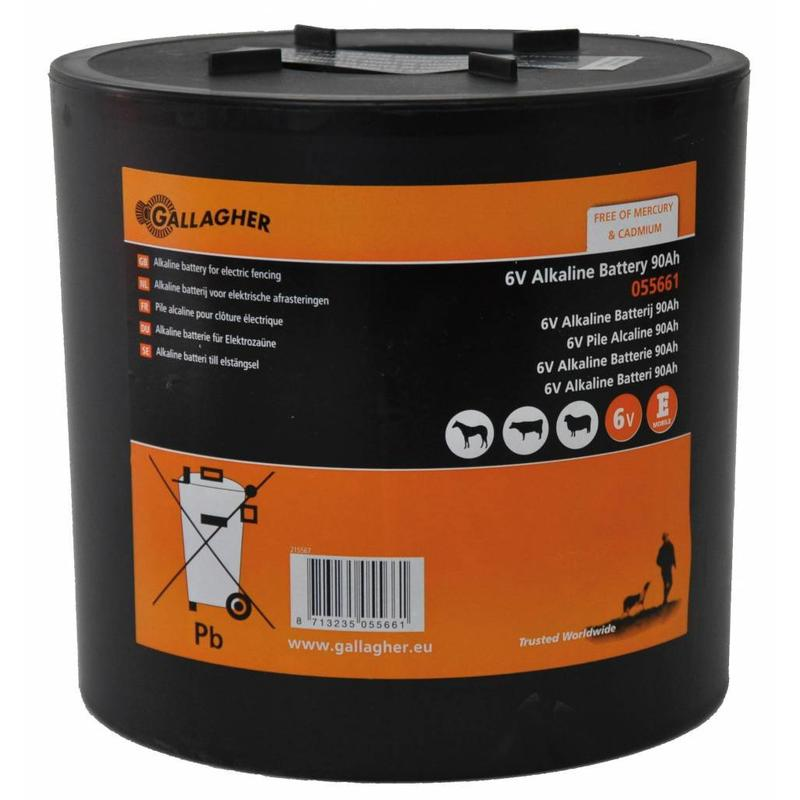 Gallagher Ronde batterij 6V alkaline 90Ah