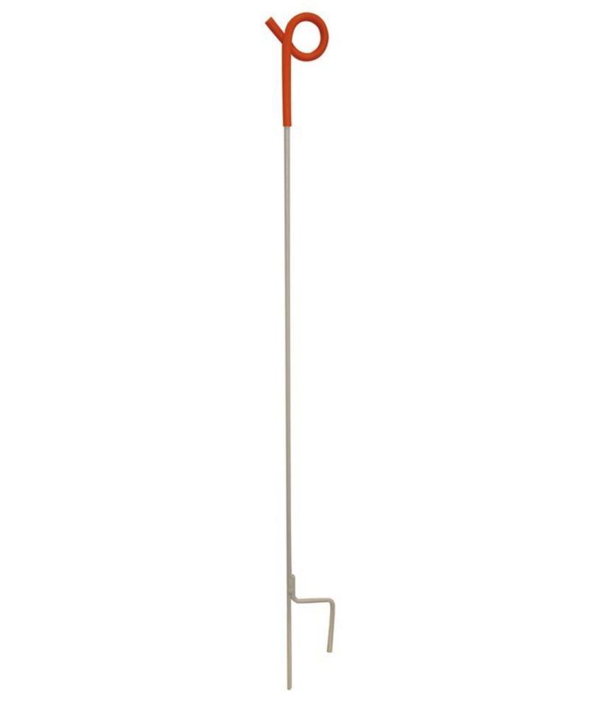 Gallagher Veerstalen paal 1,00 m met krulisolator (10 stuks)