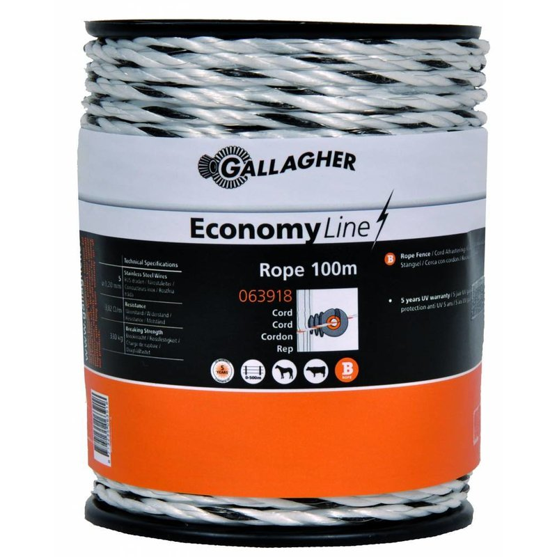 Gallagher EconomyLine cord wit 100 m
