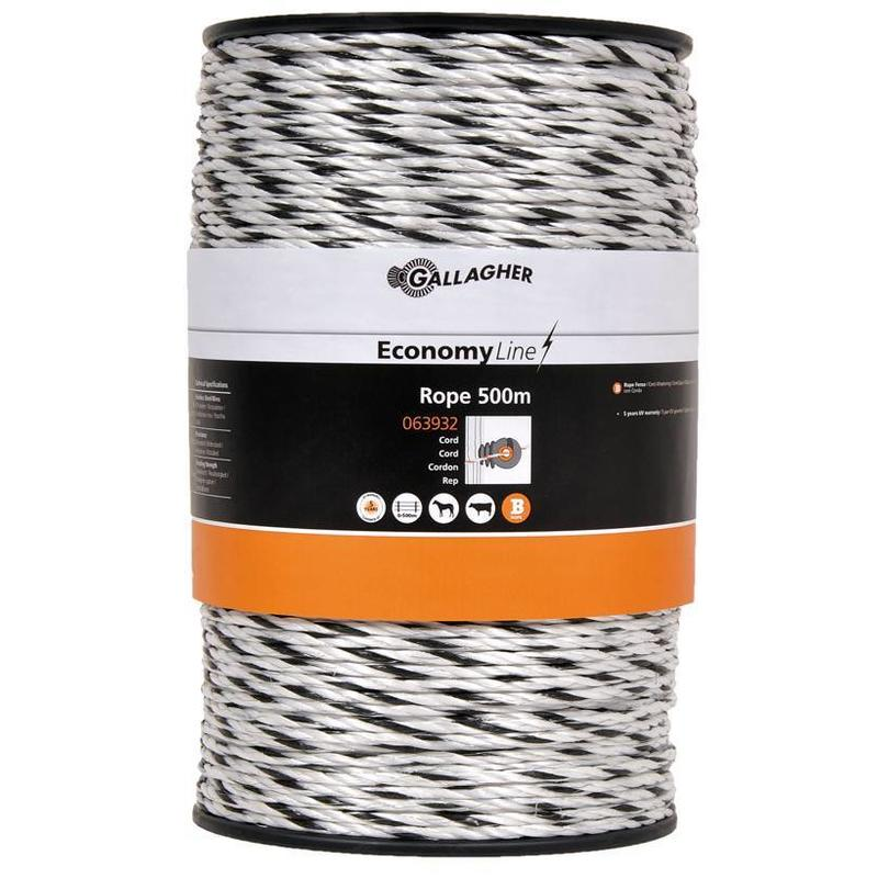 Gallagher EconomyLine cord wit 500 m