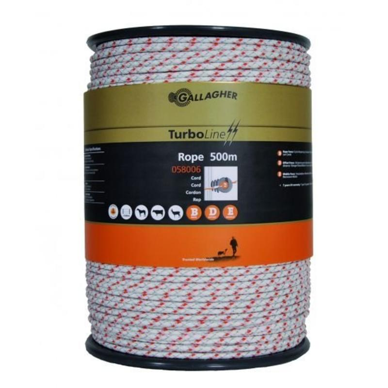 Gallagher TurboLine cord wit 500 m