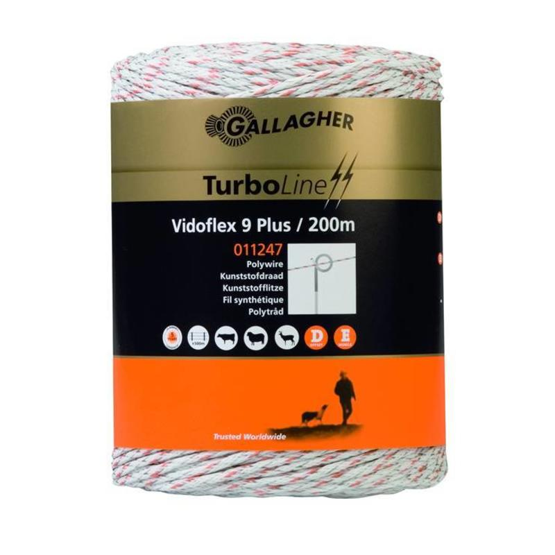 Gallagher Vidoflex 9 Turboline Plus wit 200 m