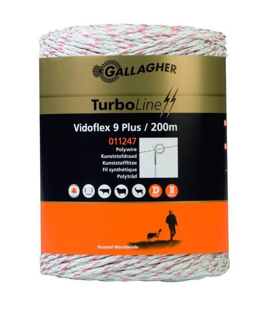 Gallagher Vidoflex 9 Turboline Plus wit 200 m