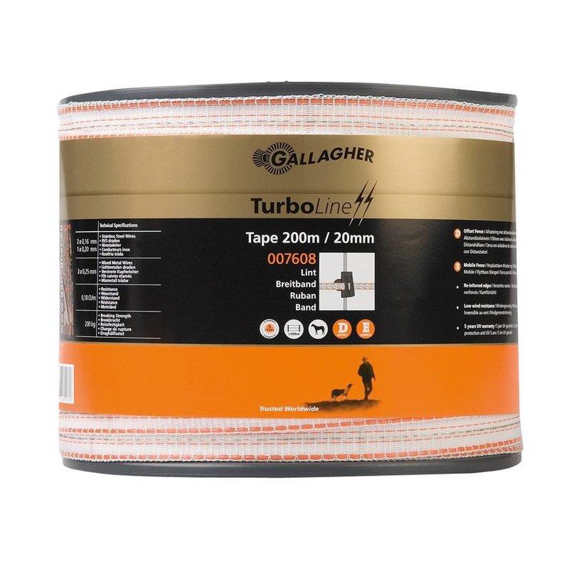 Gallagher TurboLine lint 20 mm wit 200 m