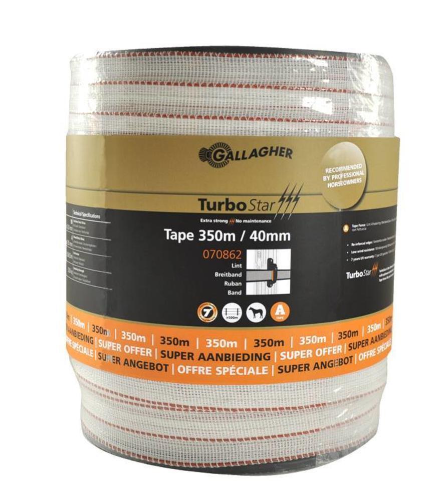 Gallagher TurboStar Super lint 40 mm wit 350 m