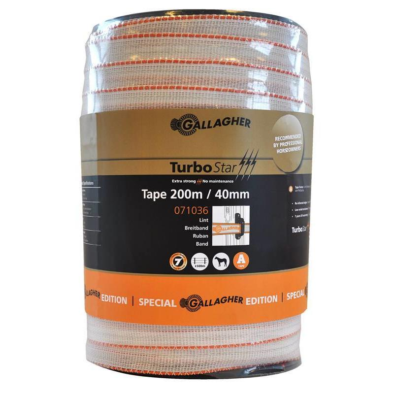 Gallagher TurboStar Special Edition lint 40 mm wit 200 m
