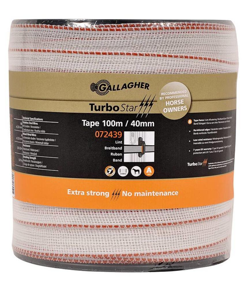 Gallagher TurboStar Super lint 40 mm wit 100 m