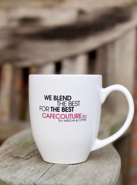 'We blend the best for the best' mug