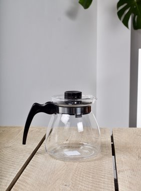 Easy tea pot with double filter