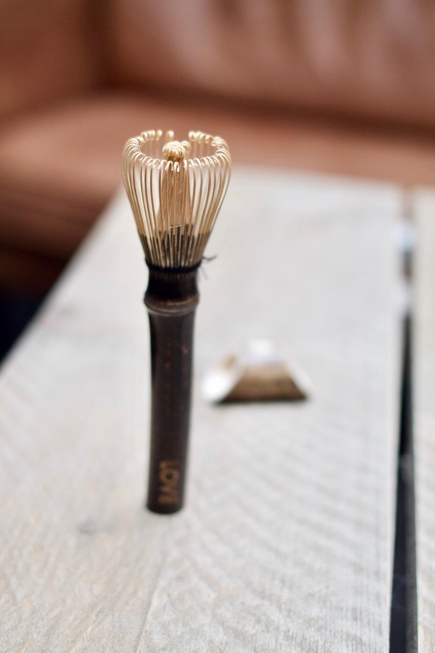 Long Matcha bamboo LOVE whisk   - Copy
