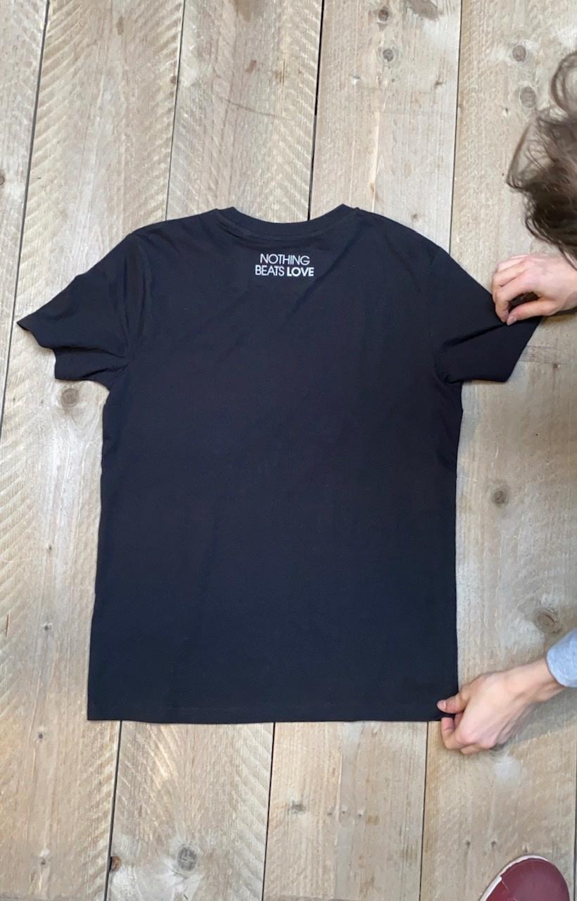 YIN YANG T-shirt - black & embroided