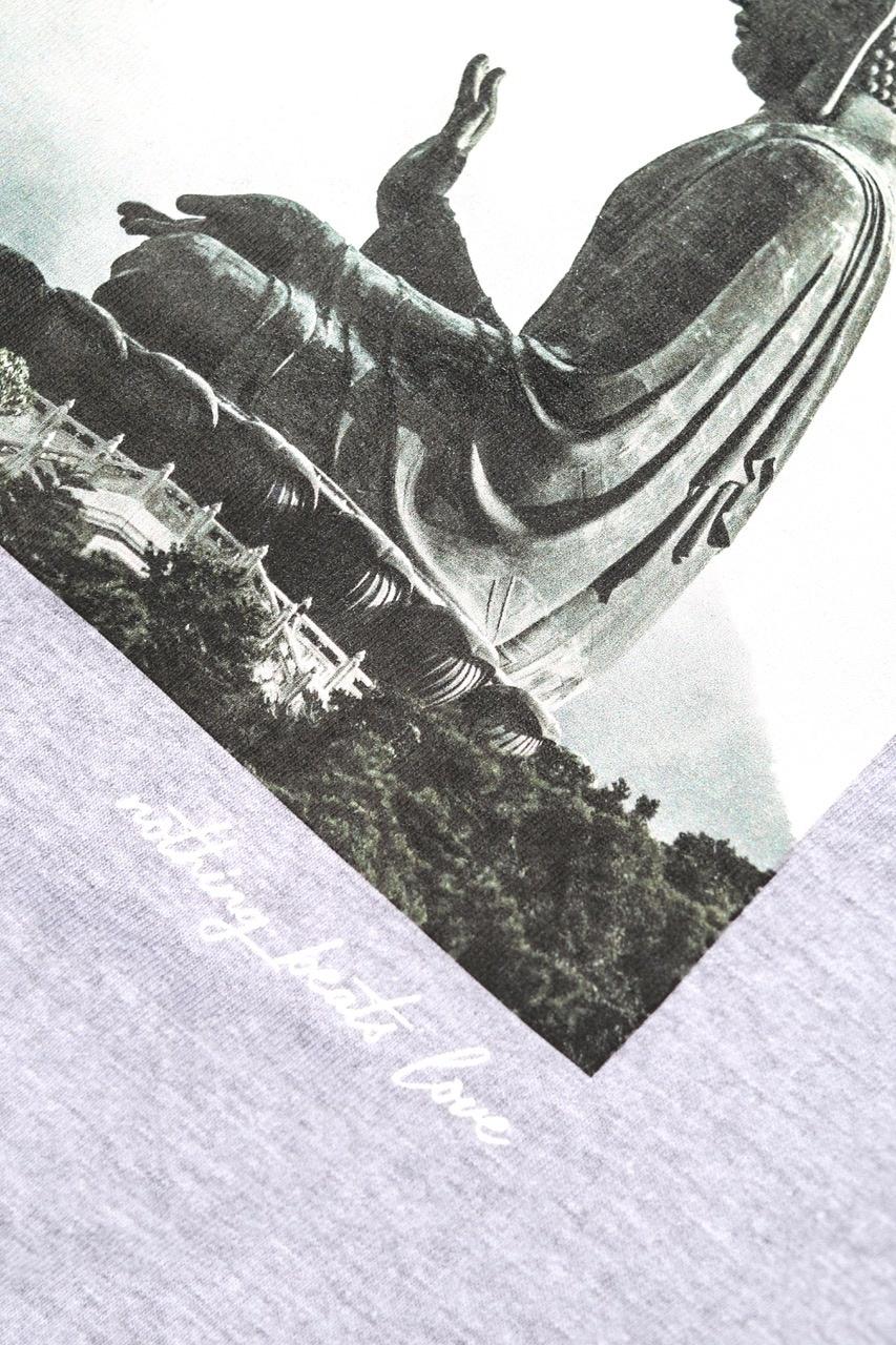 BUDDHA  hoodie sleeve - college grey