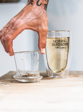 Nothing Beats Love double-walled tea glass
