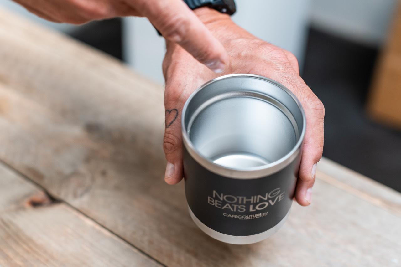 RVS thee/koffie beker (take away)
