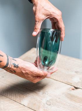 Design dubbelwandig glas groen