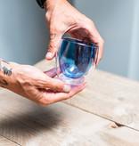 Design dubbelwandig glas blauw