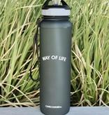 WAY OF LIFE cold brew bottle (1 liter - met rietje)