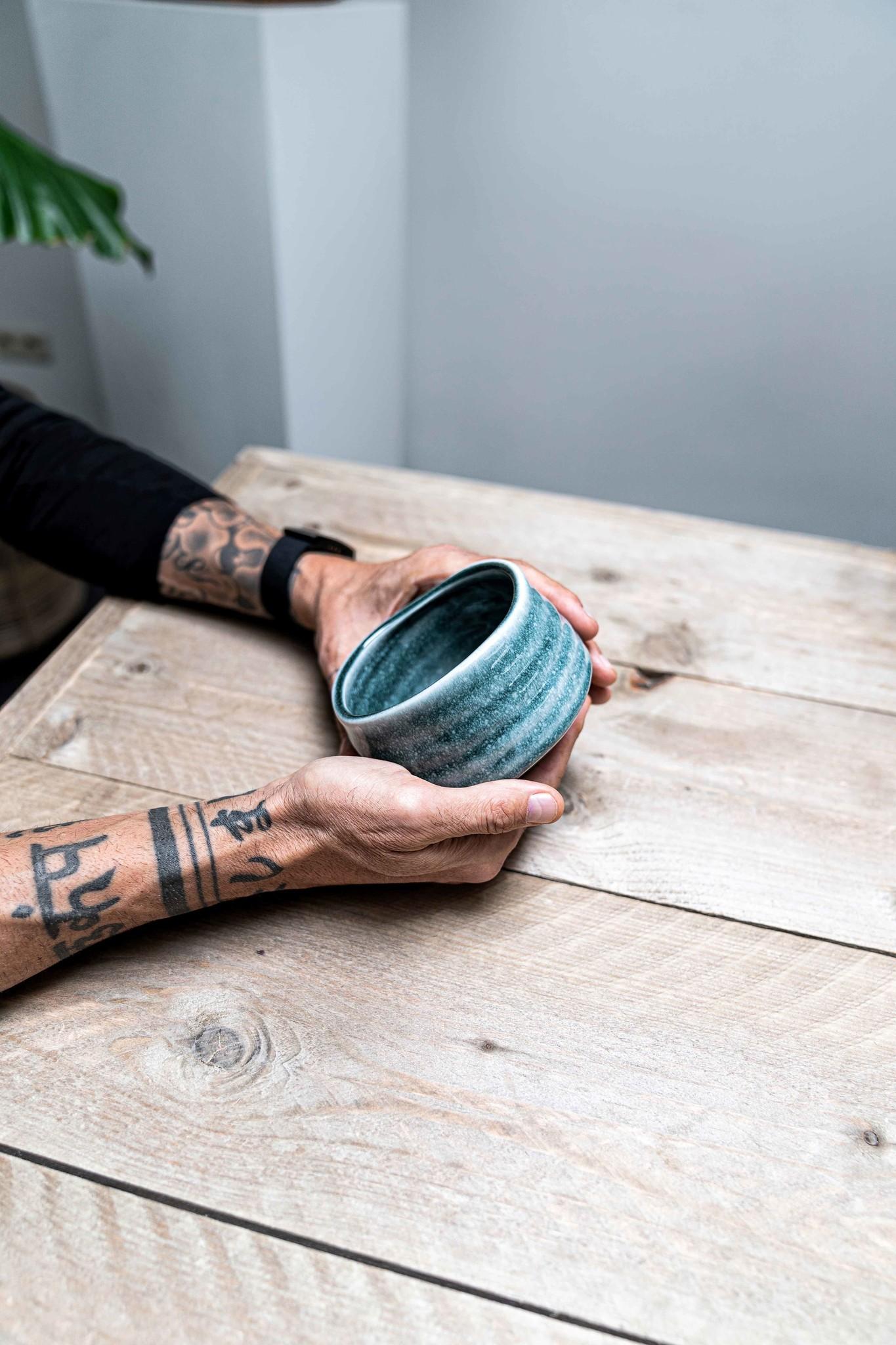 Matcha bowl zen - lichtblauw