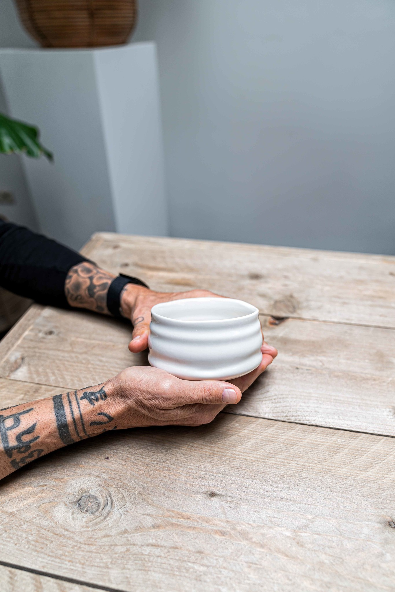 Porcelain Matcha bowl - white