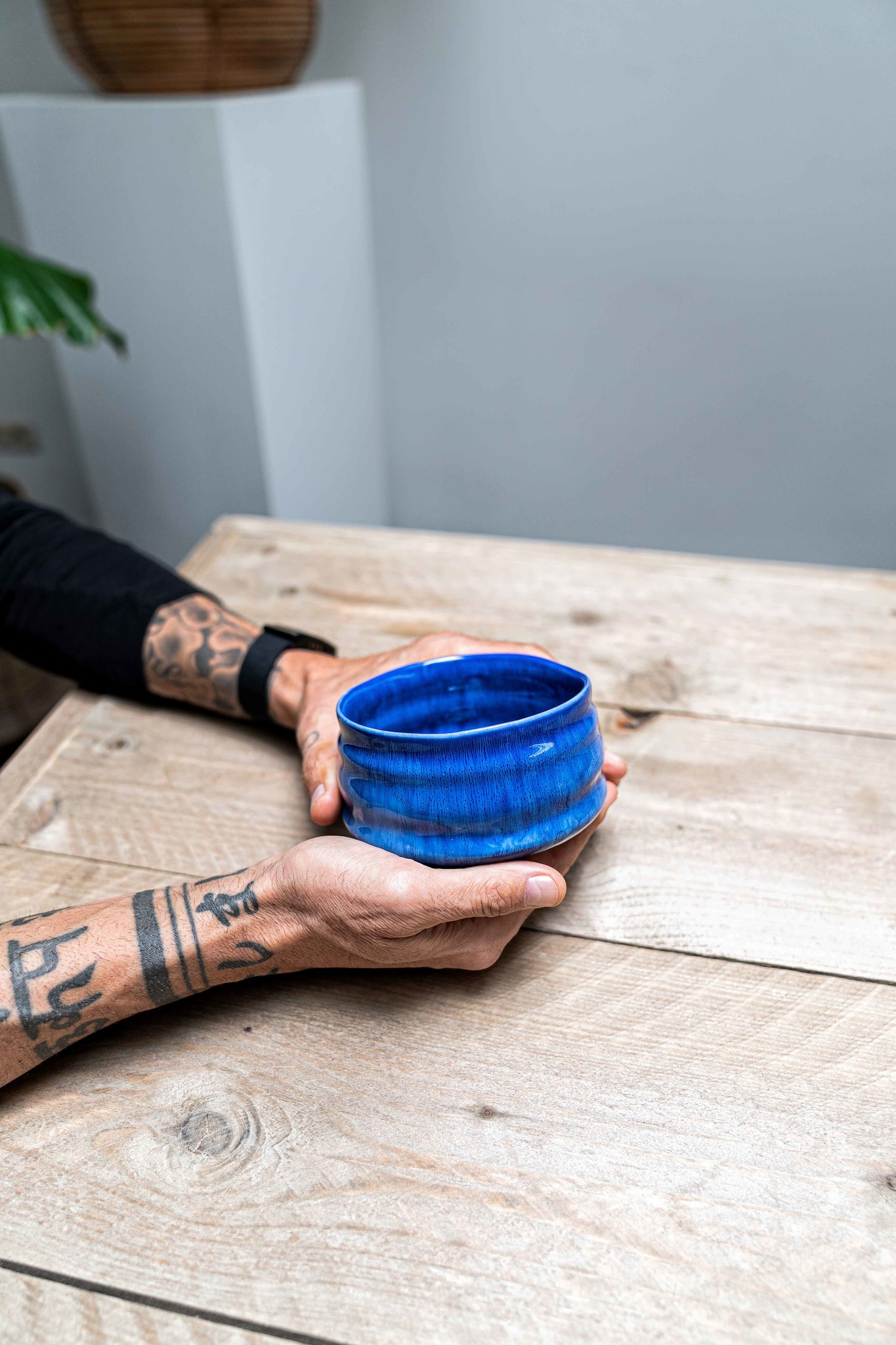 Porcelain Matcha bowl - blue