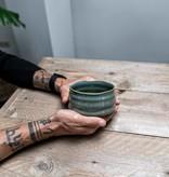 Porcelain Matcha bowl  - sea green